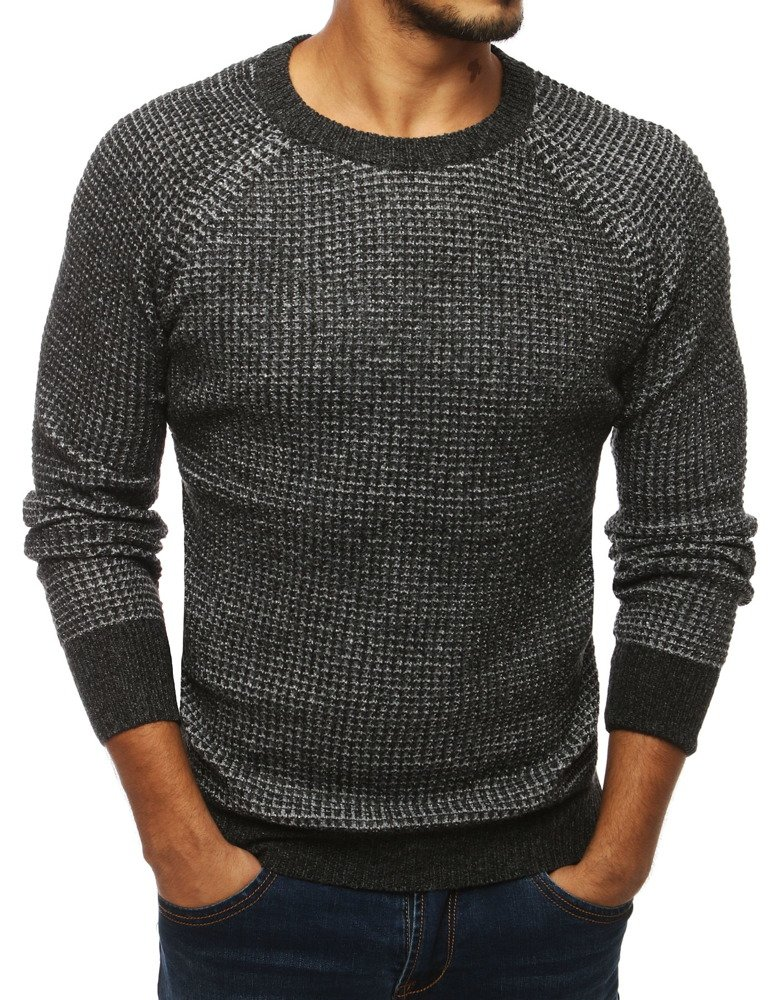 Pánsky sveter tmavo šedý