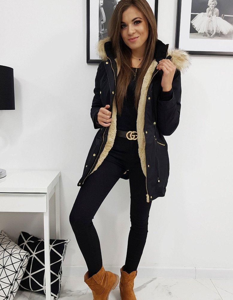 Čierna dámska bunda VENUS na zimu (ty0968)