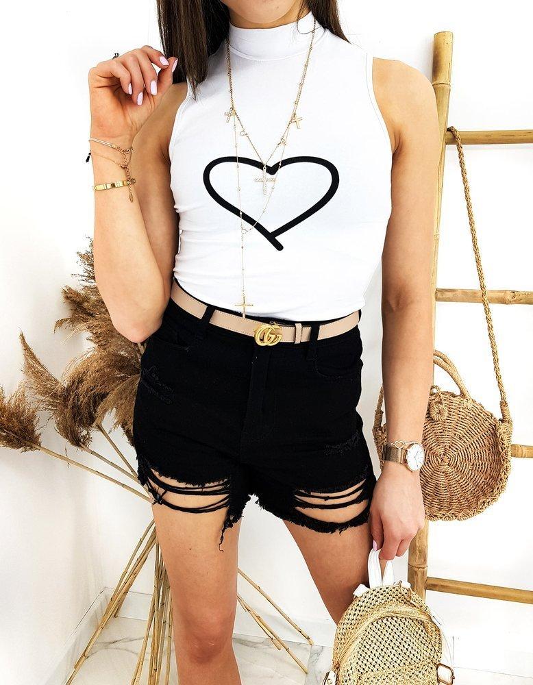 T-shirt damski BELINDA biały RY1522