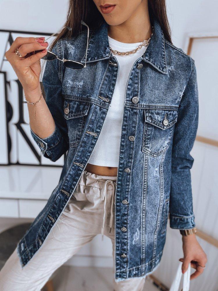 Kurtka damska jeansowa MOON niebieska TY1712