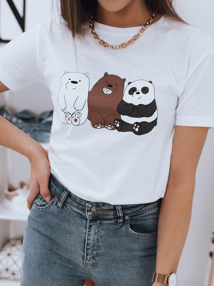 T-shirt damski CUTE biały Dstreet RY1672