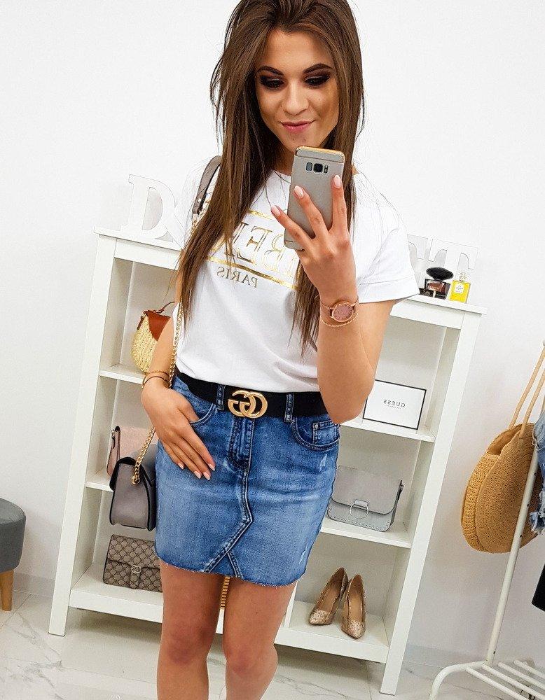 Spódnica jeansowa MINI SILVE CY0178