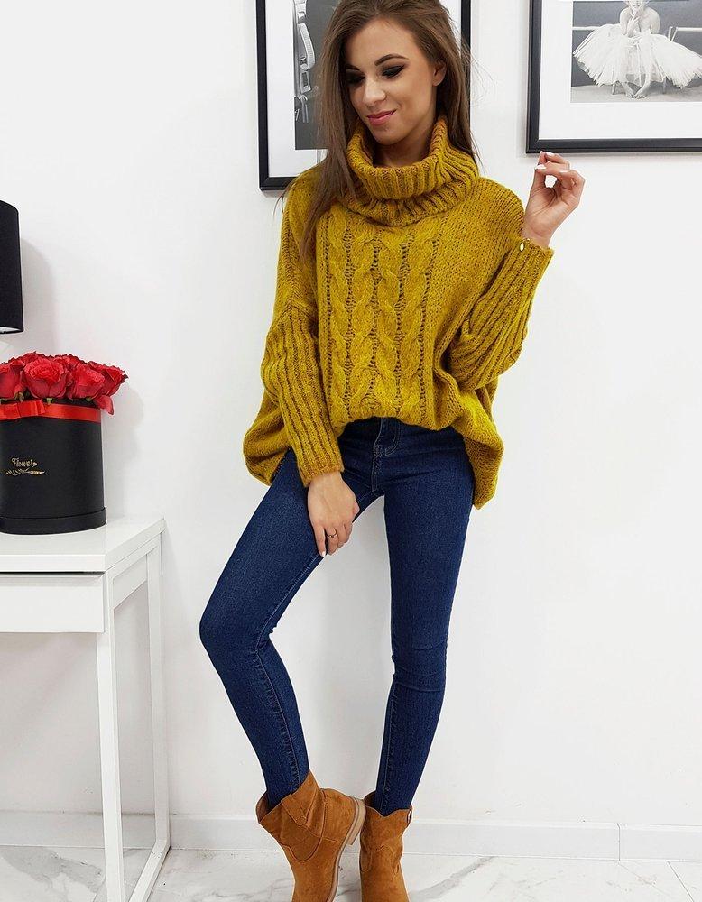 Sweter damski LOGAN kamelowy (my0603)