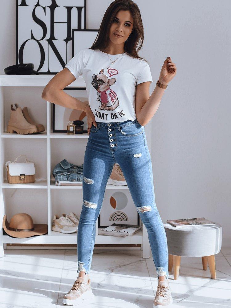 T-shirt damski DOGGIE biały RY1614