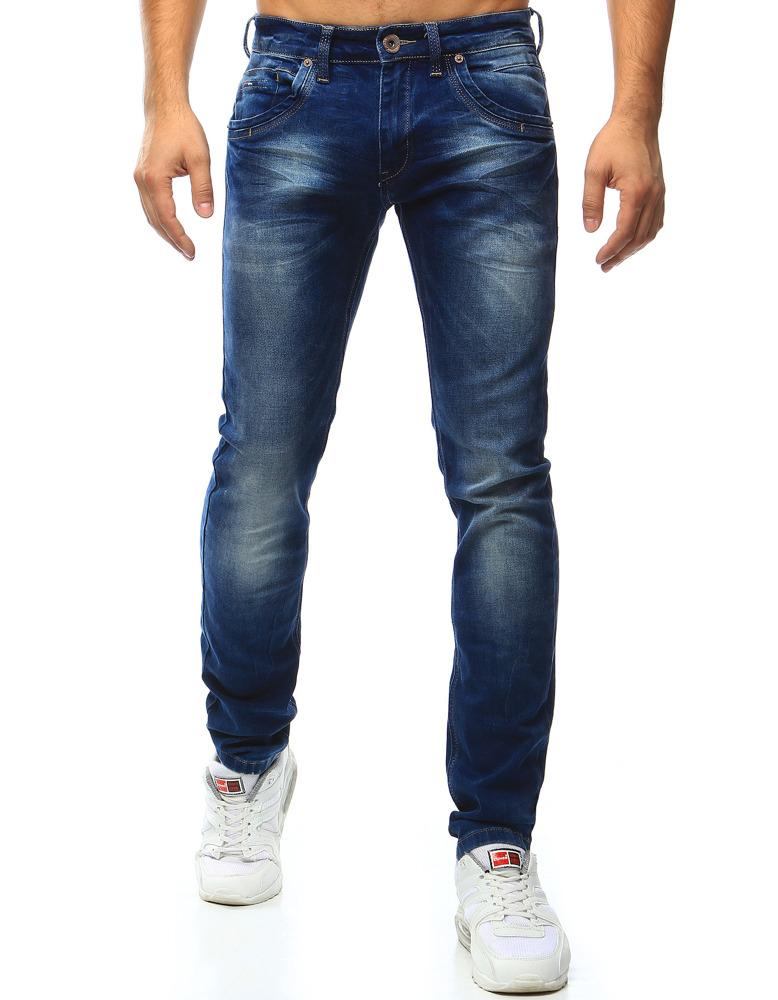 Spodnie jeansowe męskie niebieskie UX0995