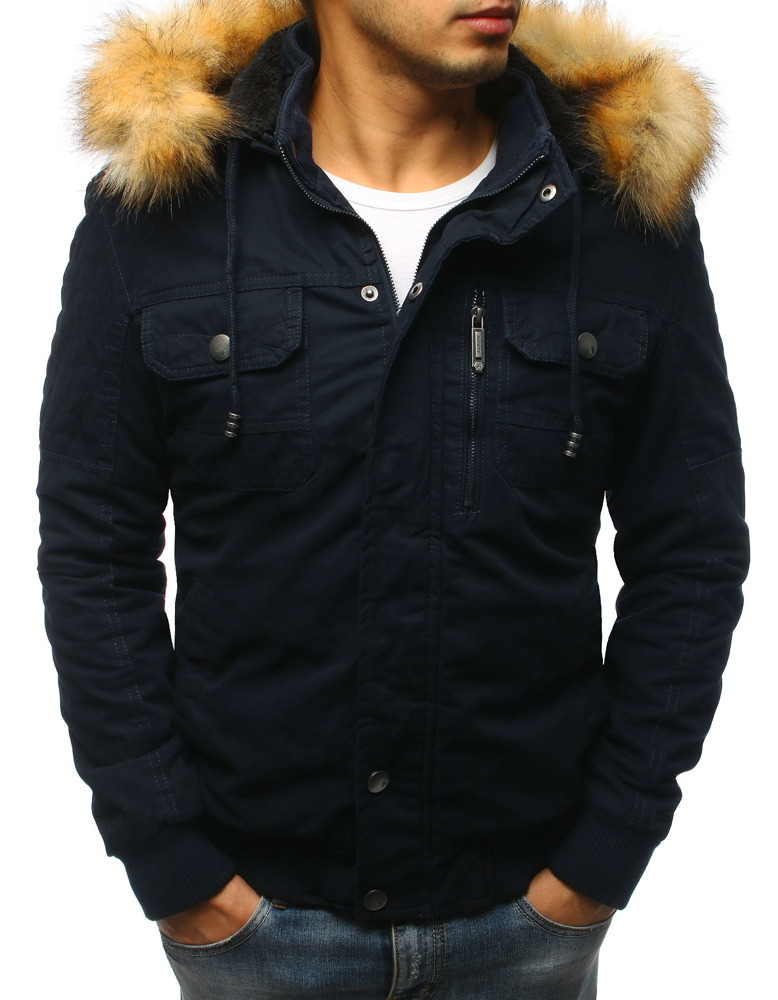 Granátová pánska bunda s kapucňou (tx2463)