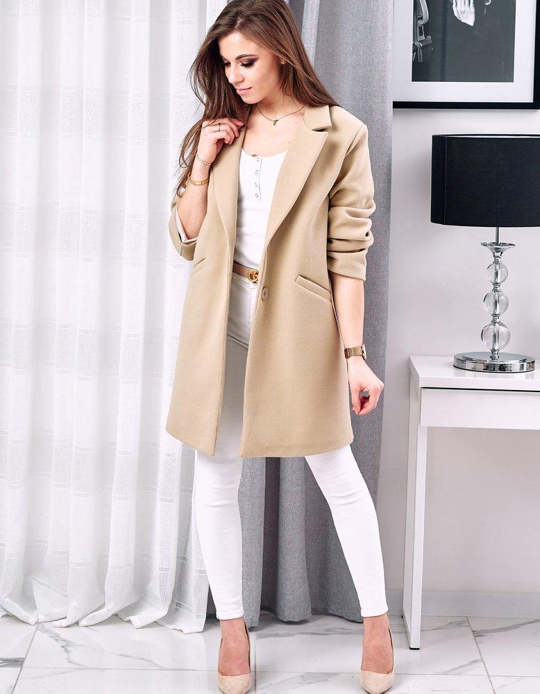 Dámsky béžový kabát BELISSA NY0302