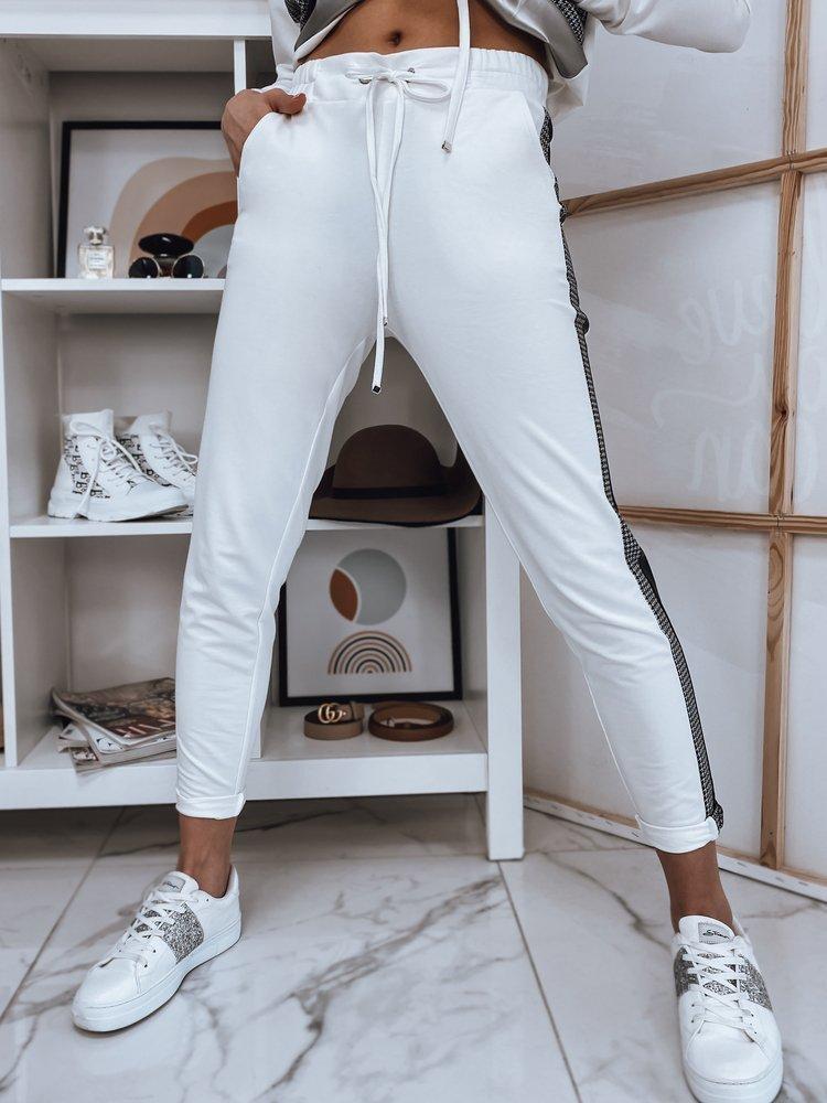 Spodnie damskie ELEN ecru Dstreet UY0750