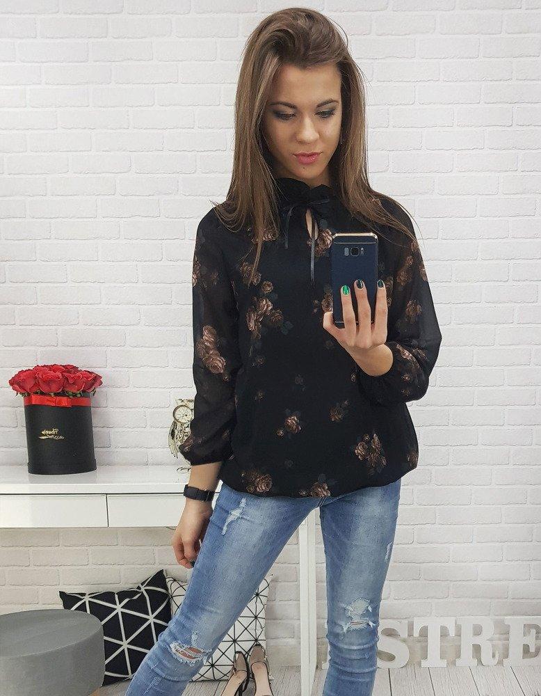 Bluzka damska ROSSE czarna RY0551