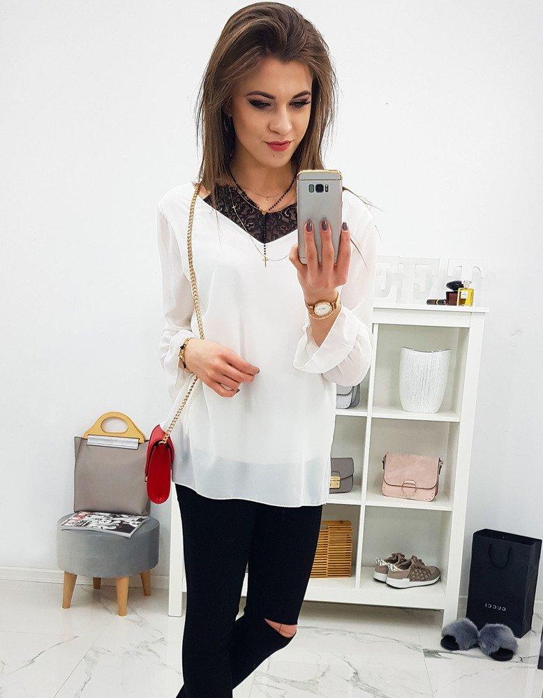 Biała bluzka damska DOLLY (ry0605)