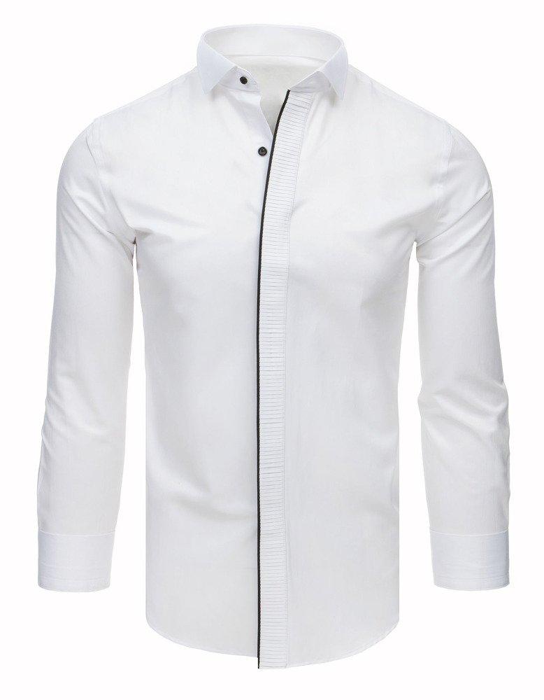 Košeľa s plisovaným / biela