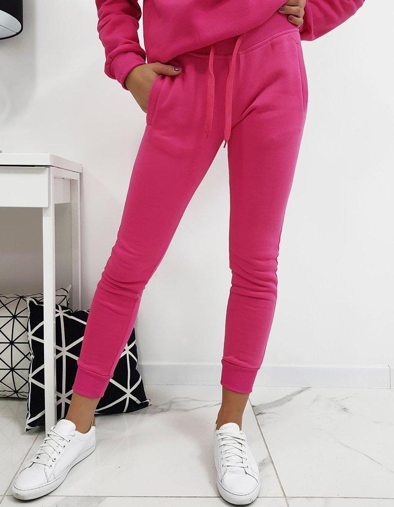 Ružové dámske teplákové nohavice FIT (uy0208)