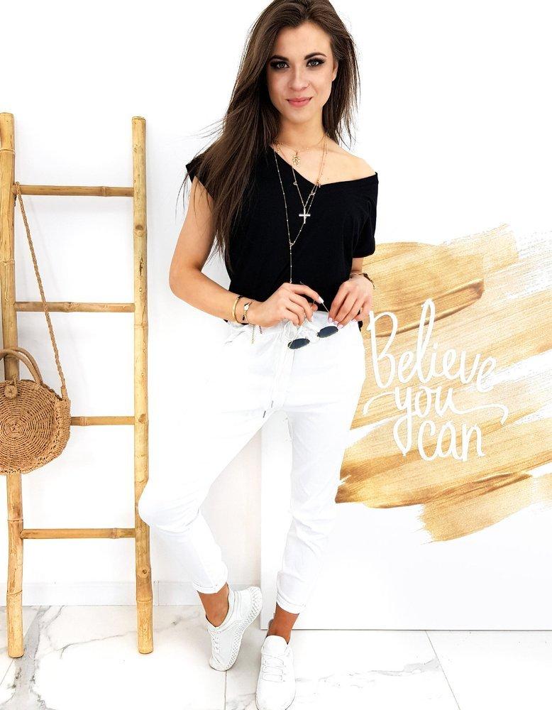 Spodnie damskie LONI białe UY0502