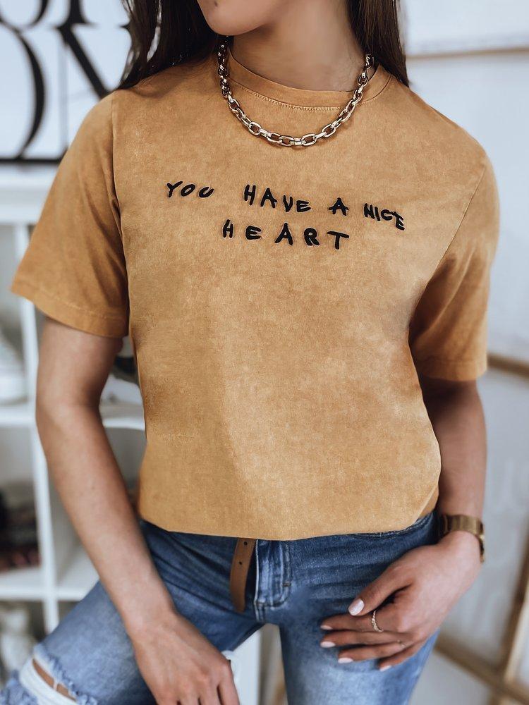 T-shirt damski AMY musztardowy Dstreet RY1689