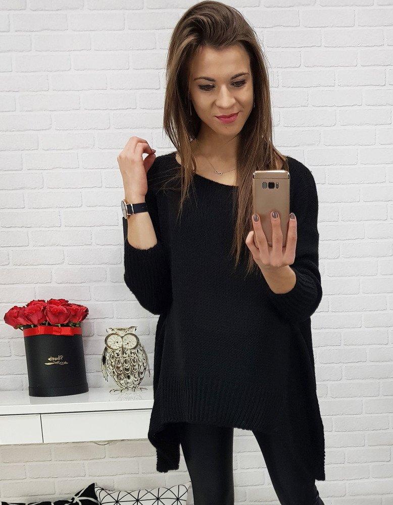 Elegantný dámsky čierny sveter (my0546)