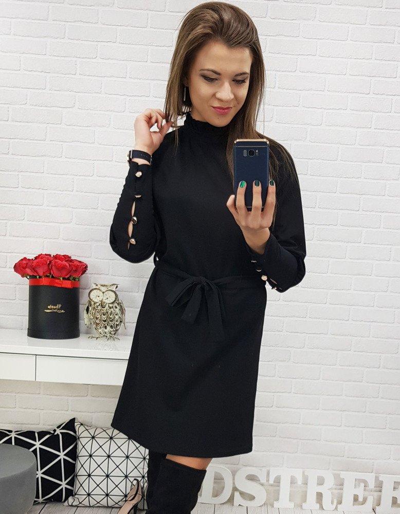 Čierne dámske šaty (ey0619)
