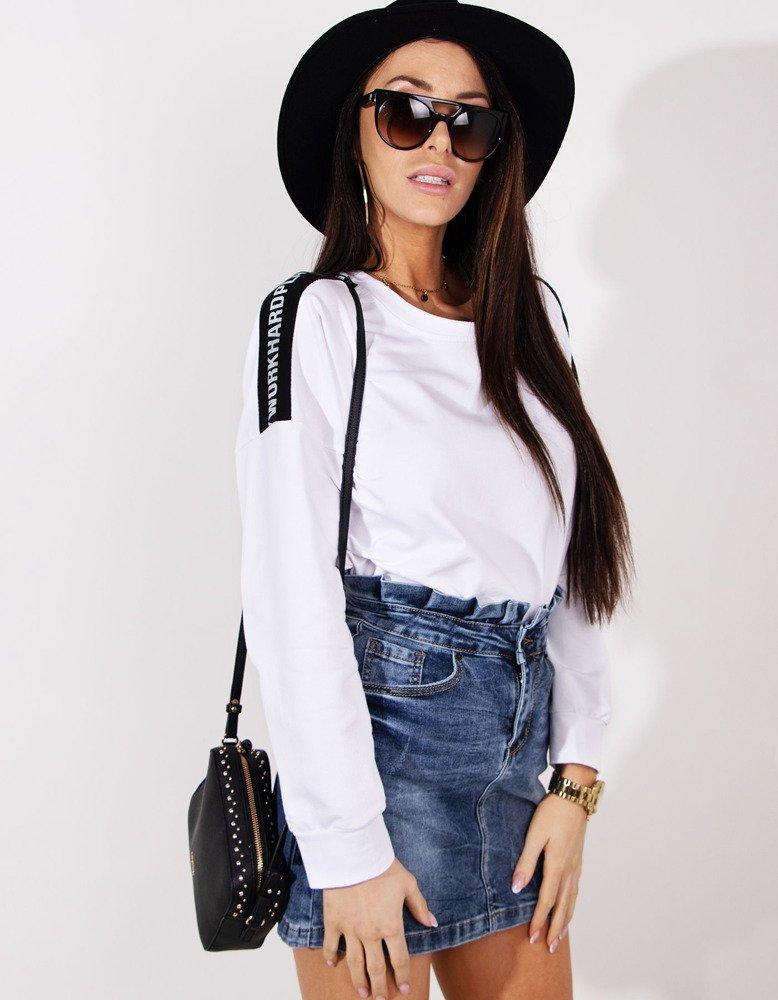 Bluza damska NEON biała BY0178