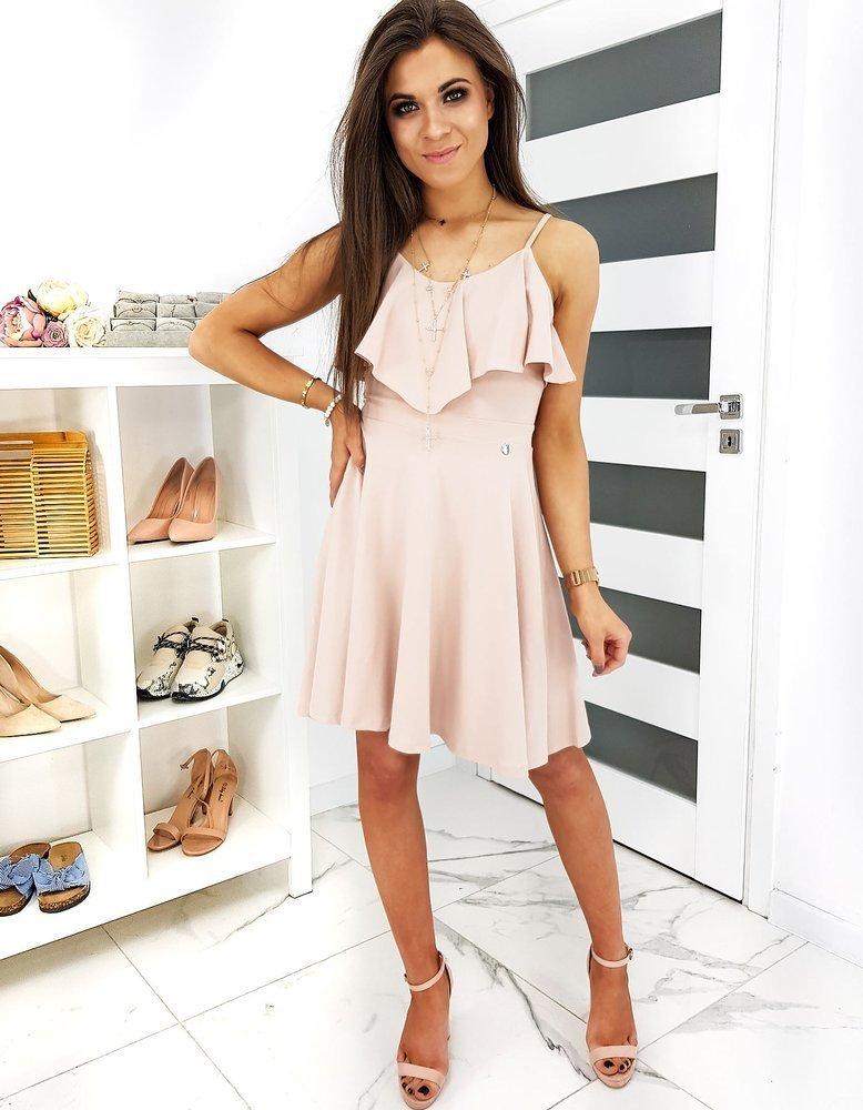Krásne ružové dámske šaty CORNELIA EY1194