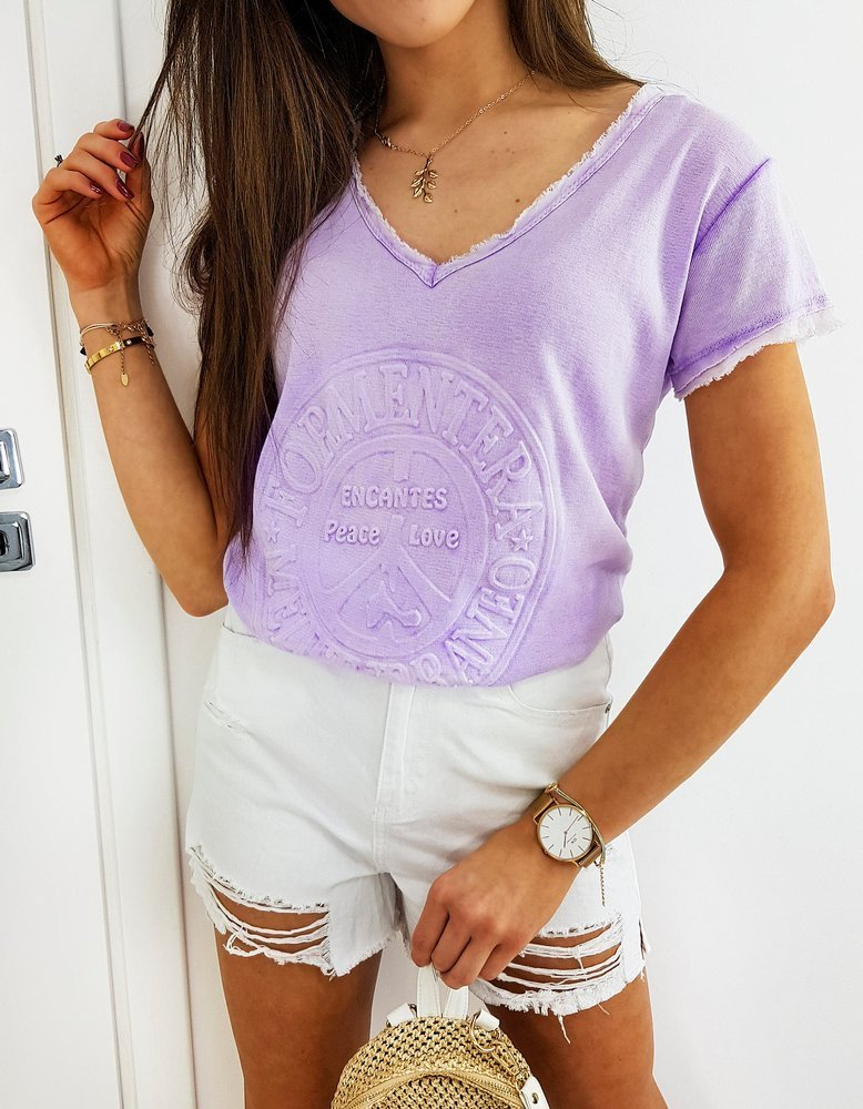 T-shirt damski FORMENTERA lila RY1456