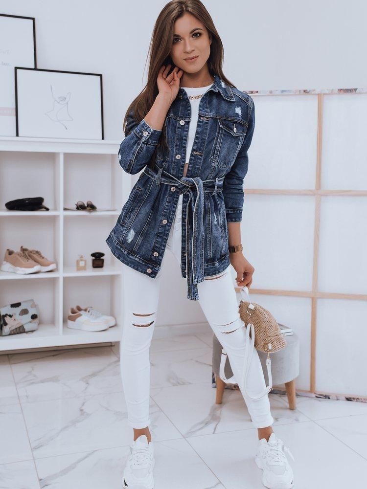 Kurtka damska jeansowa FLORA niebieska Dstreet TY1654