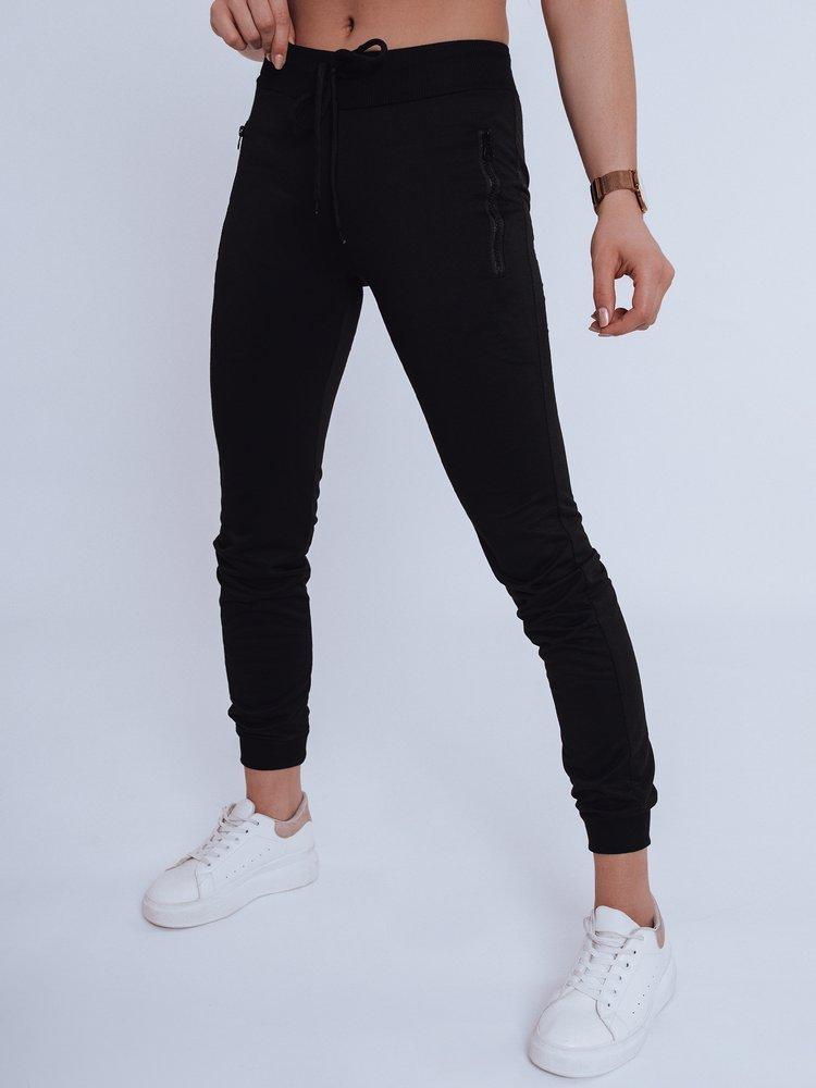 Spodnie damskie dresowe FENDI czarne Dstreet UY0821