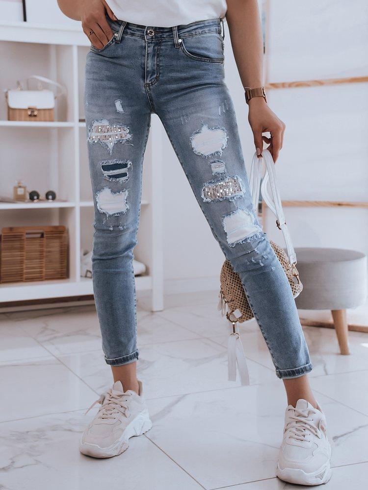 Spodnie damskie jeansowe BORA niebieskie Dstreet UY0865