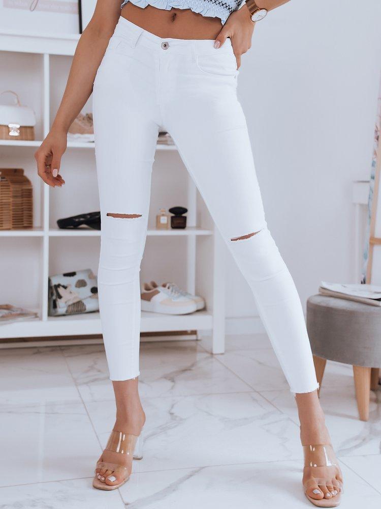 Spodnie damskie jeansowe THINA białe Dstreet UY0946