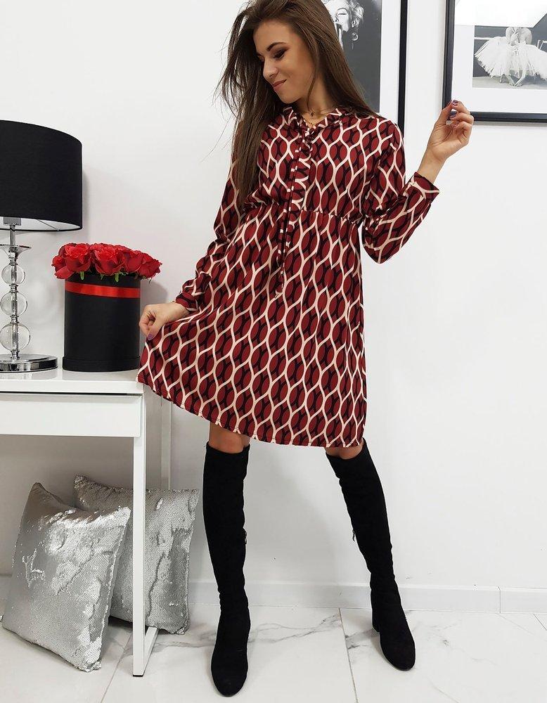 Šaty so vzorom bordové