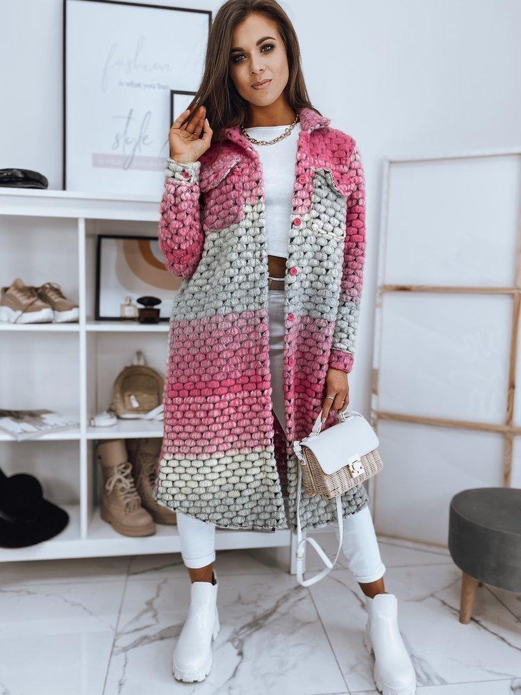 Płaszcz damski CALLE różowy NY0412
