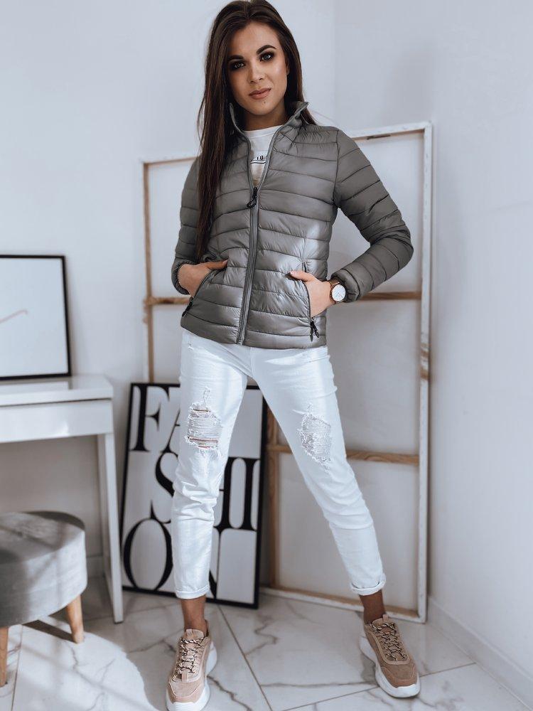 Jarná prešívaná bunda šedá