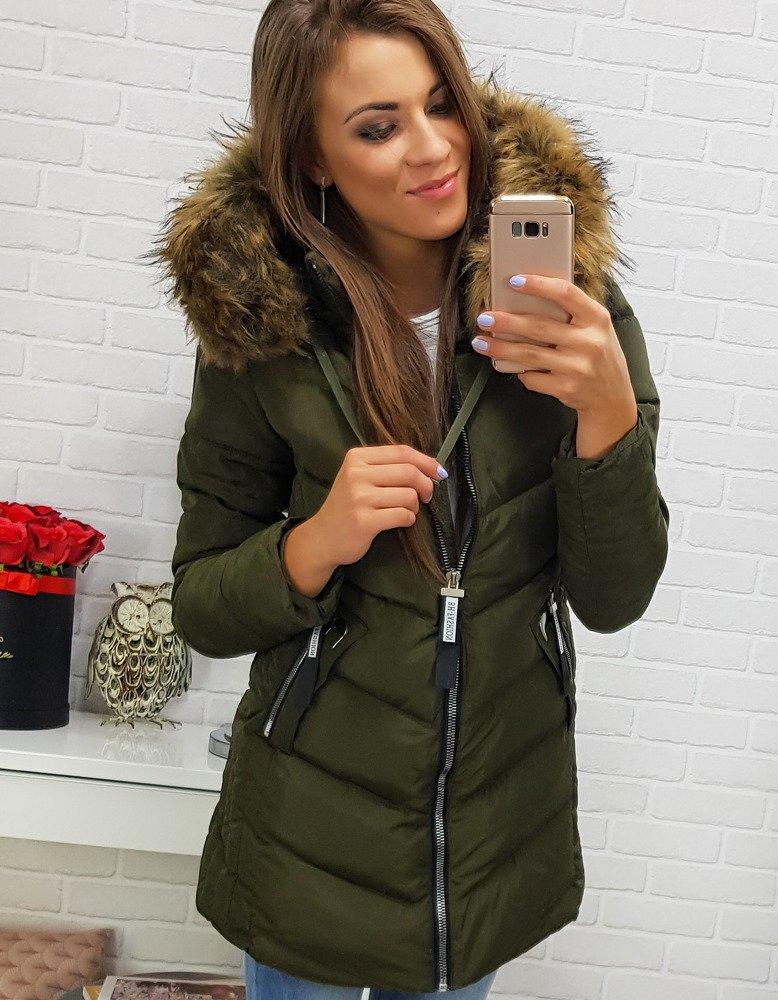 Dámska zelená zimná bunda (ty0283)