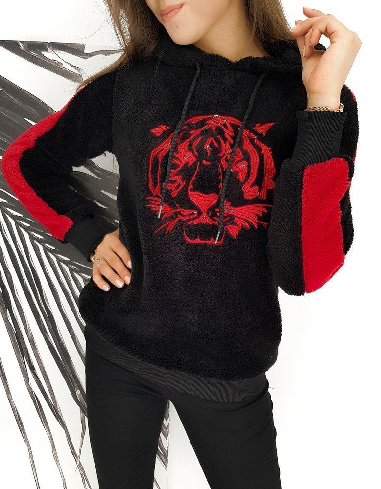 Bluza damska TIGER czarna BY0259
