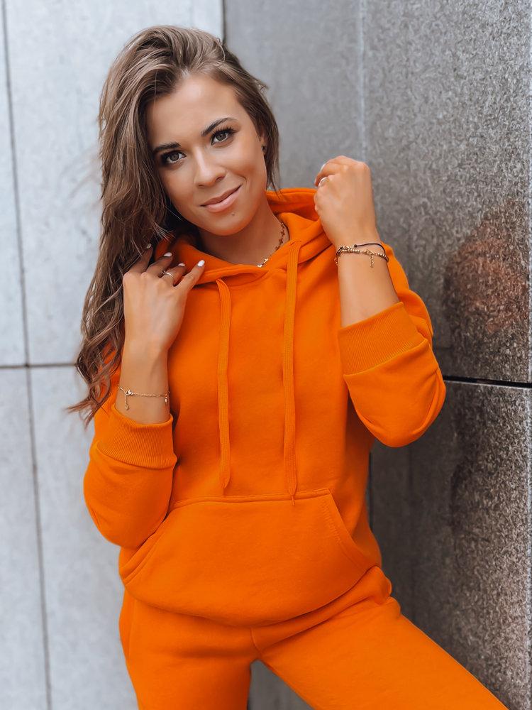 Bluza damska BASIC z kapturem pomarańczowa BY0281