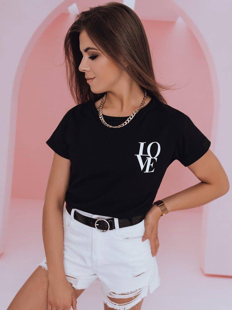 T-shirt damski LOVE czarny RY1305