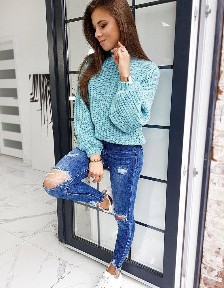 Sweter damski oversize ELIA turquoise MY0717