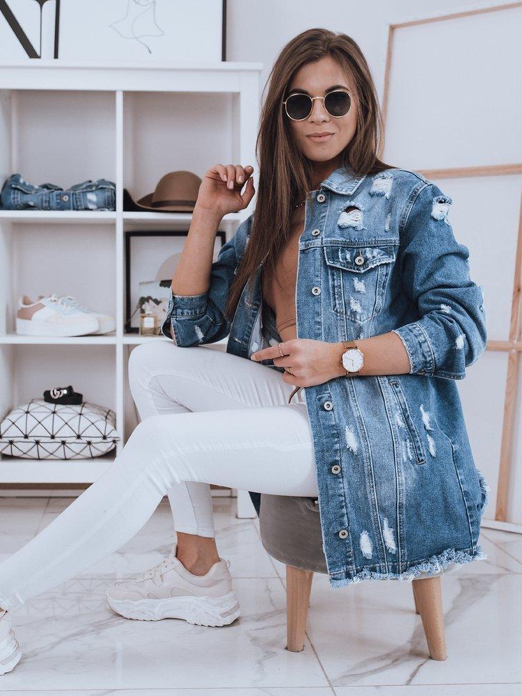 Kurtka damska jeansowa KLARISSA II niebieska Dstreet TY1836