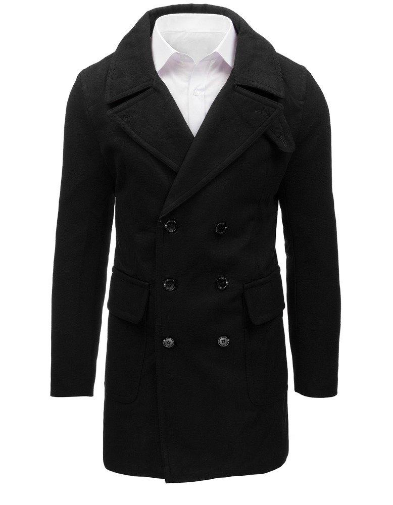 Pánsky kabát zimný čierny