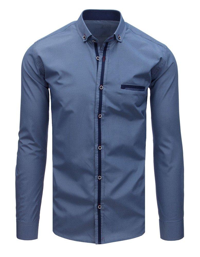 Elegantná košeľa námornícka modrá