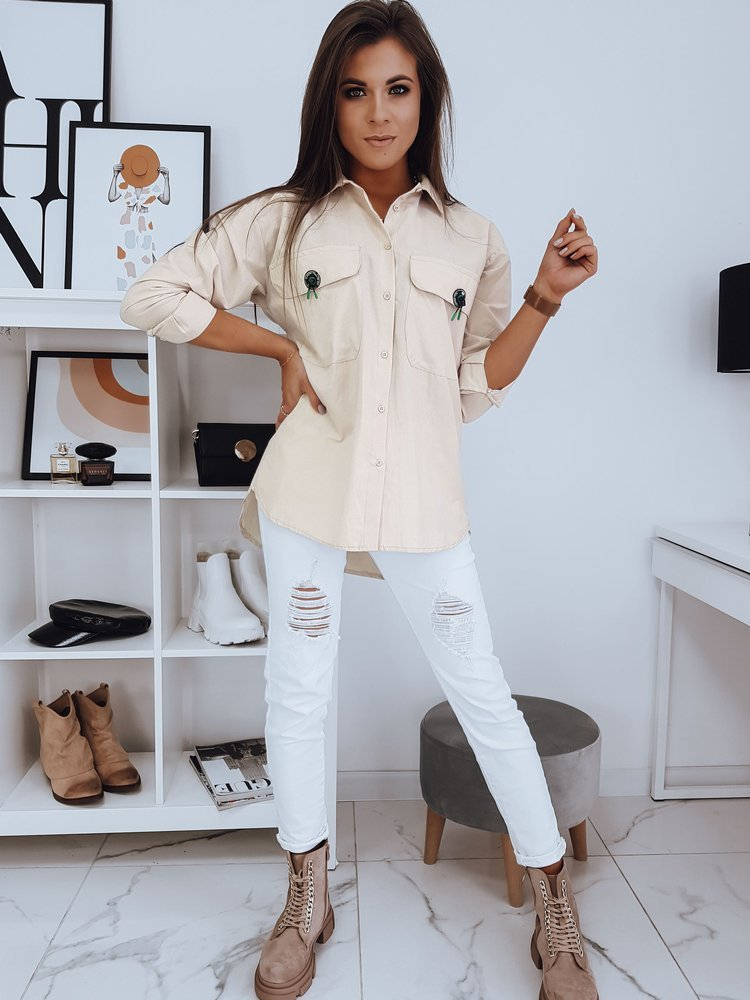 Koszula damska FARO beżowa DY0205