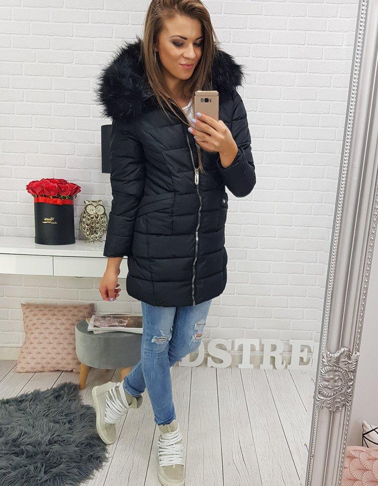 Čierna dámska prešívaná bunda (ty0304)