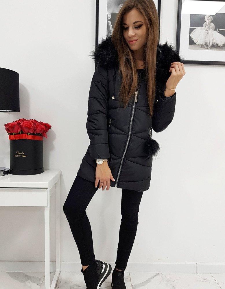 Čierna dámska bunda MILLO s kapucňou (ty0431)