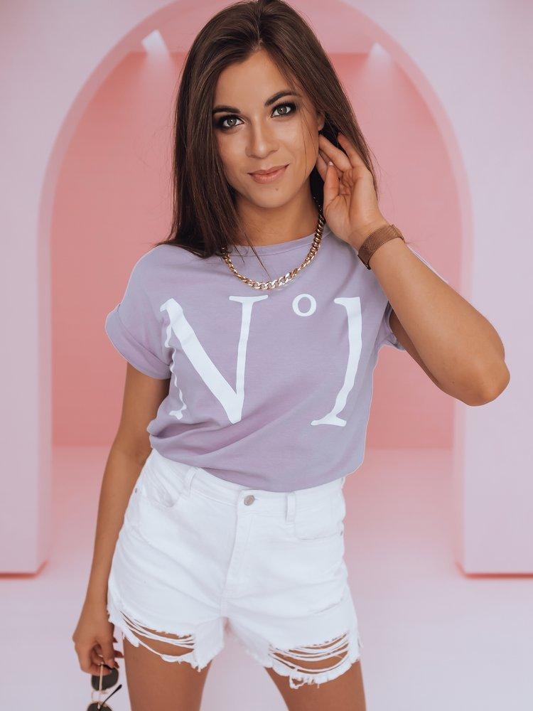 T-shirt damski NUMBER ONE lila RY1387