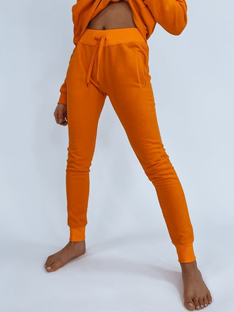 Spodnie damskie dresowe FITS pomarańczowe UY0583