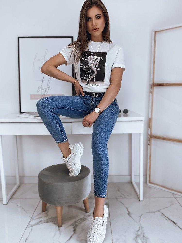 Spodnie damskie jeansowe MIA niebieskie Dstreet UY0807