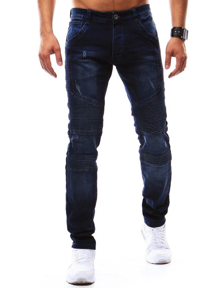 Spodnie jeansowe męskie granatowe UX0913