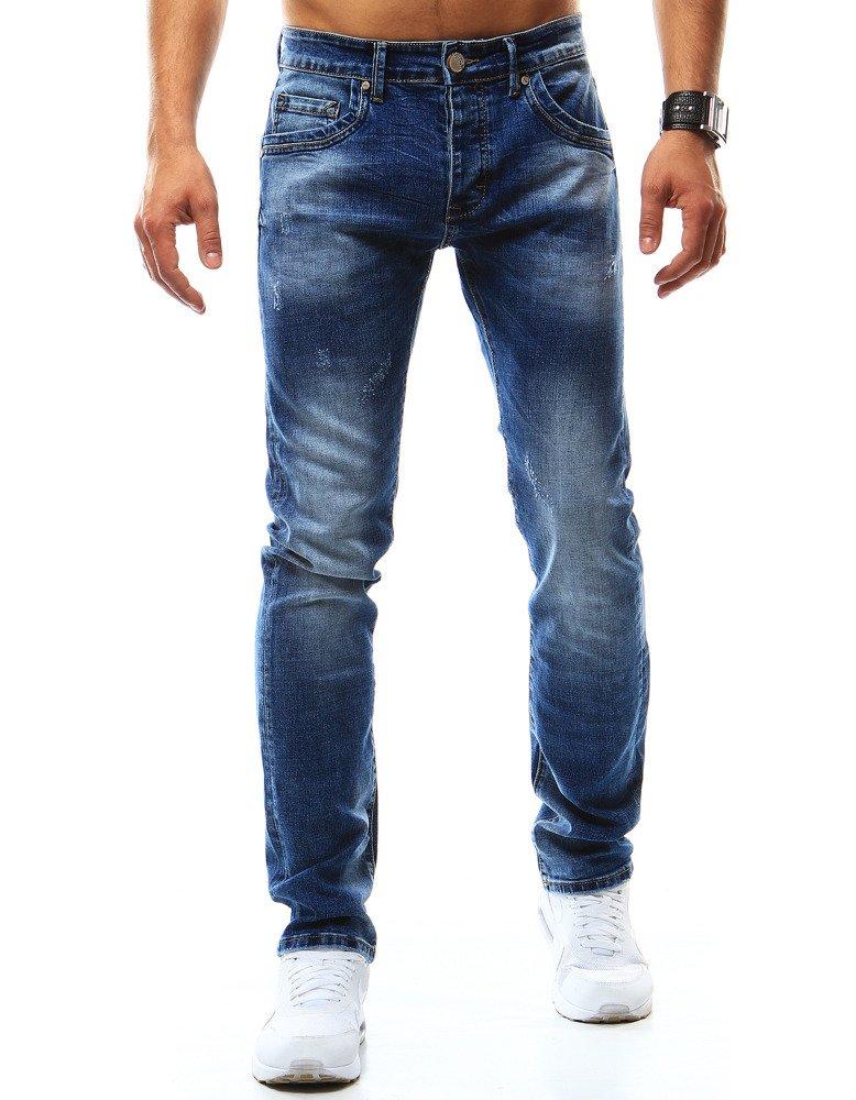 Spodnie jeansowe męskie niebieskie UX0937