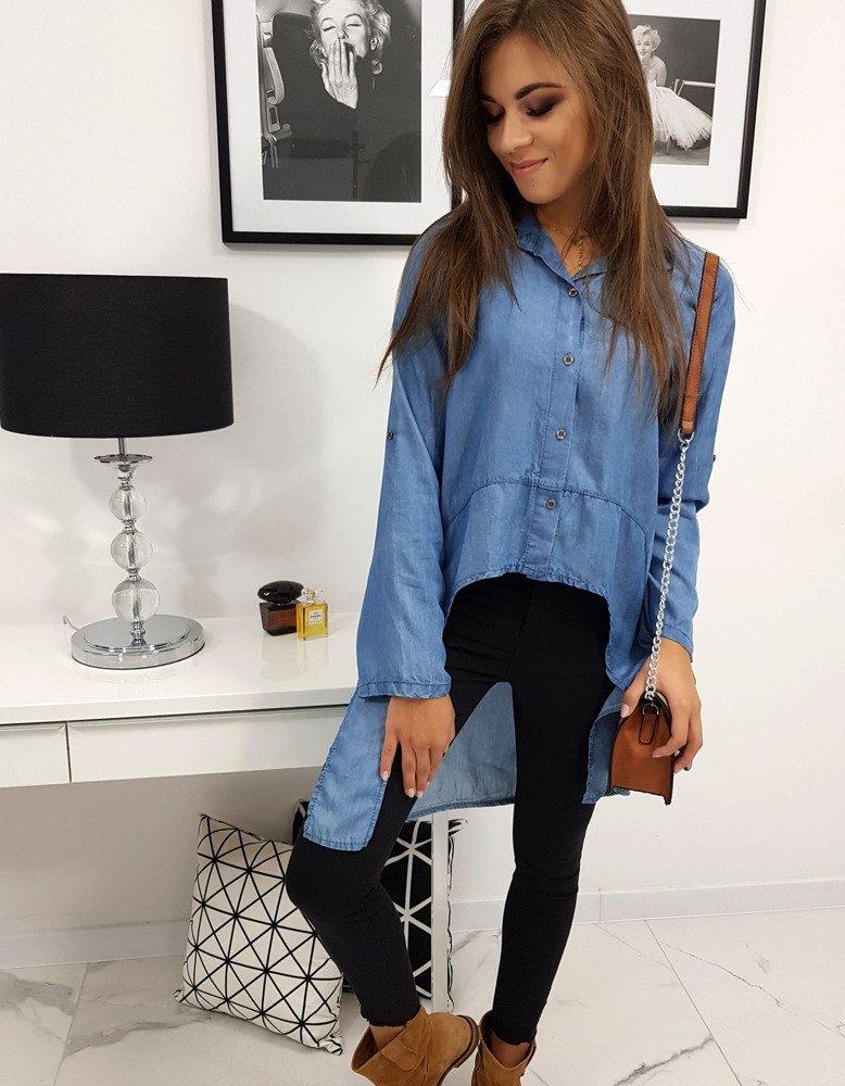 Koszula damska jeansowa PALOMA granatowa (dy0168)