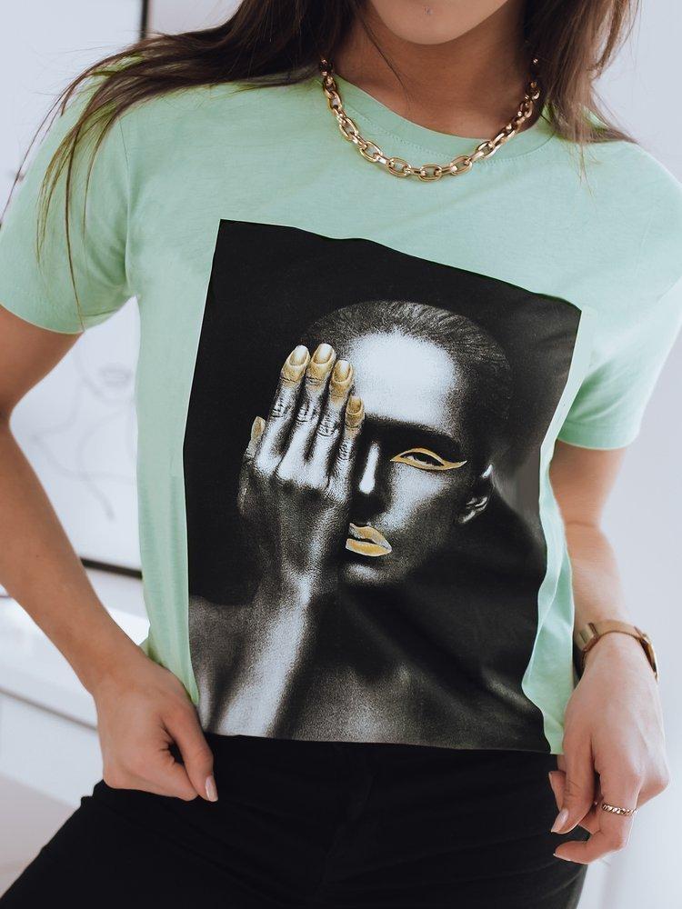 T-shirt damski GOLD WOMEN zielony Dstreet RY1663
