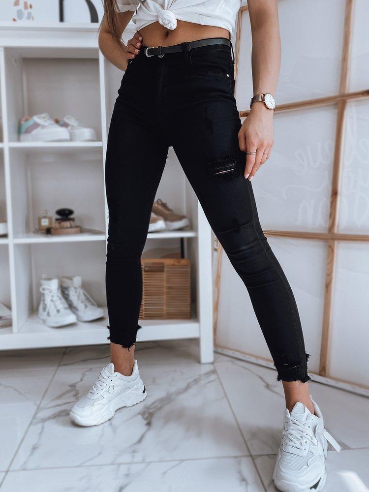 Spodnie damskie jeansowe FALIA czarne Dstreet UY0872