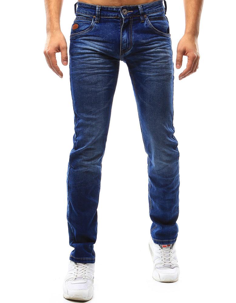Spodnie jeansowe męskie niebieskie UX1084